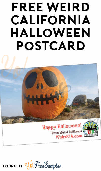 FREE Weird California Halloween Postcard