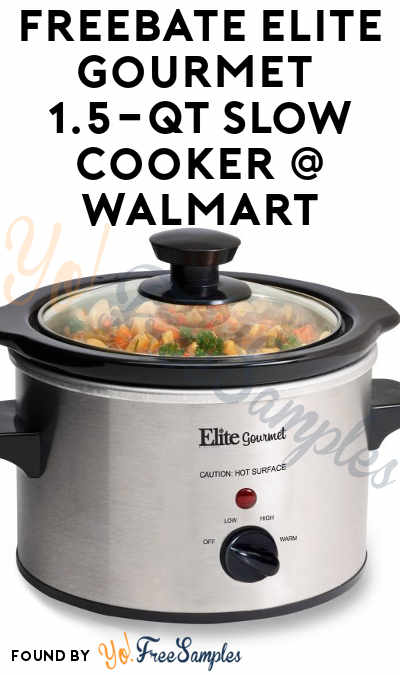 FREEBATE Elite Gourmet 1.5-qt Slow Cooker At Walmart After In-Store Pick Up & Cashback (New TopCashBack Members Only)