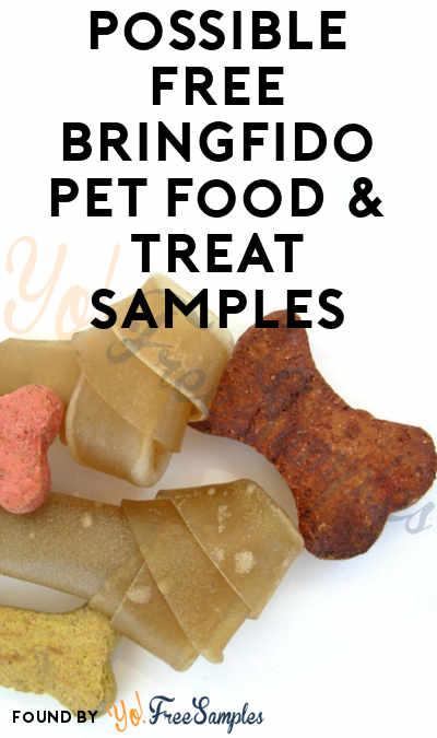 Possible FREE BringFido Pet Food & Treat Samples
