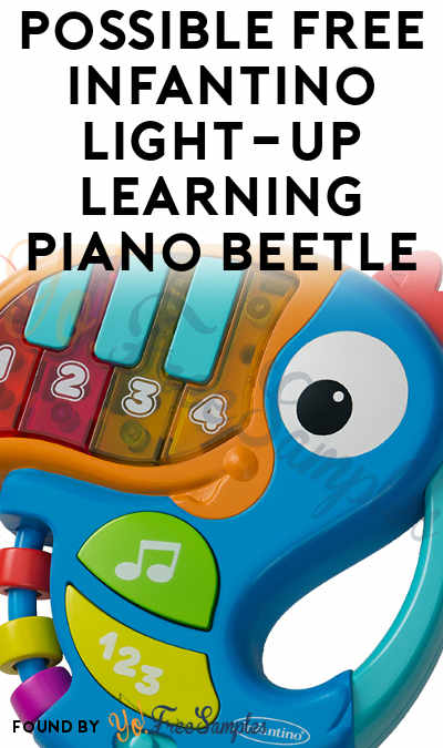 Possible FREE Infantino Light-Up Learning Piano Beetle