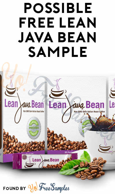 FREE Lean Java Bean Sample [Verified Received By Mail]