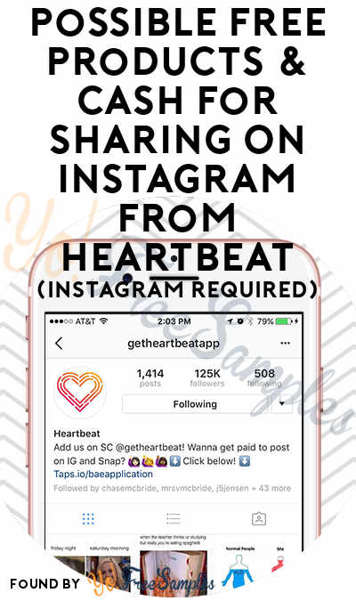 Possible FREE Products & Cash For Sharing On Instagram From Heartbeat (Instagram Required)