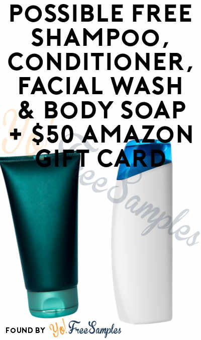 Possible FREE Shampoo, Conditioner, Facial Wash & Body Soap + $50 Amazon Gift Card From Guys That Groom (Males Only & Surveys Required)