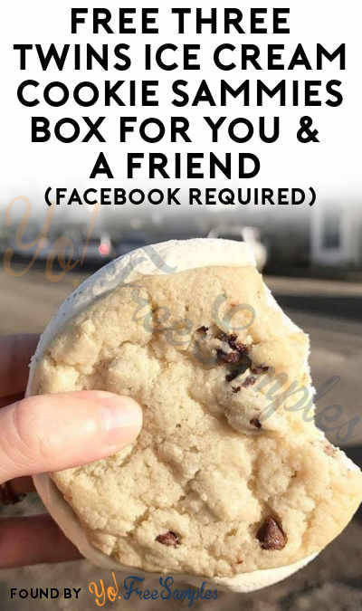 Win FREE Three Twins Ice Cream Cookie Sammies Box For You &  A Friend  (Facebook Required)