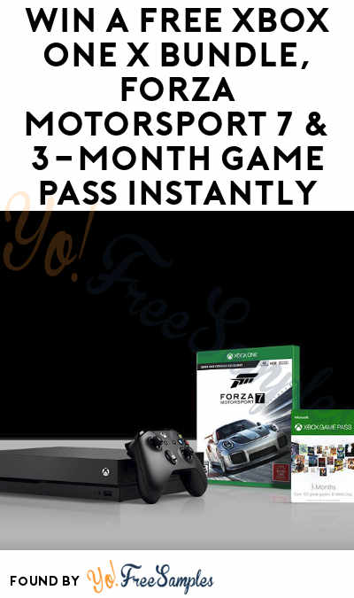 Win A FREE Xbox One X Bundle, Forza Motorsport 7 & 3-Month Game Pass Instantly