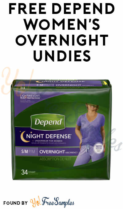 FREE Depend Women's Overnight Underwear From Home Tester Club (Survey Required)