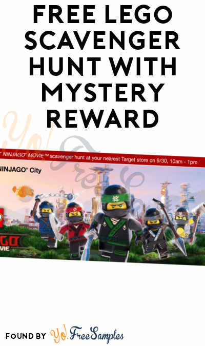 FREE LEGO Scavenger Hunt With Mystery Reward Upon Completion