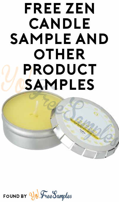 FREE Zen Candle, T-Shirts & Other Promotional Product Samples From 4Imprint (Company Name Required) [Verified Received By Mail]