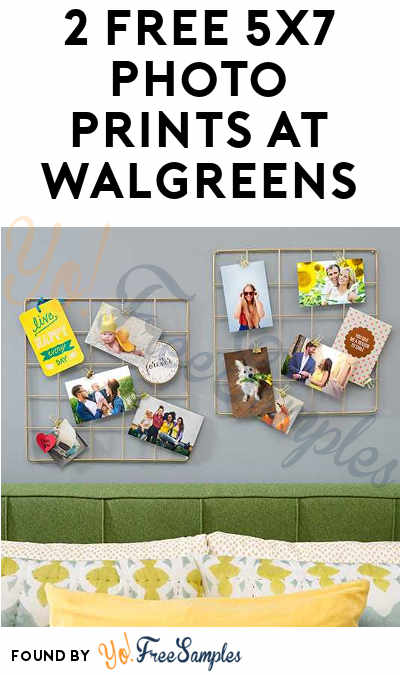2 Free 5×7 Photo Prints From Walgreens Stores Create or login to your account, upload photos, and use the following code to make 2 5×7 prints free ($ value, Exp: 10/21): EXCLUSIVEPIX You can pick it up in any Walgreens store for free or you can ship to home for 99 cents.