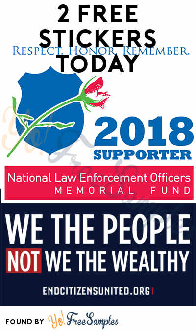 2 FREE Stickers: We The People, Not We The Wealthy Sticker & 2018 National Law Enforcement Officers Memorial Fund Supporter Decal