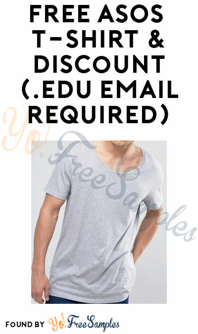 free asos t shirt discount student email required yo