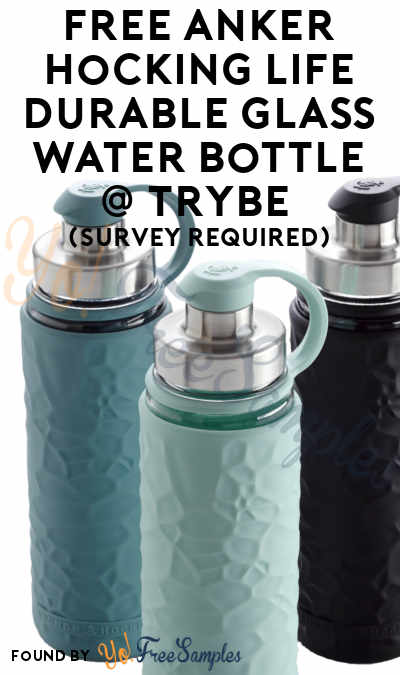 FREE Anker Hocking Life Durable Glass Water Bottle At Trybe (Survey Required) [Verified Received By Mail]
