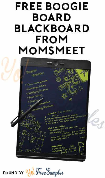 FREE Boogie Board Blackboard From MomsMeet (Must Apply)