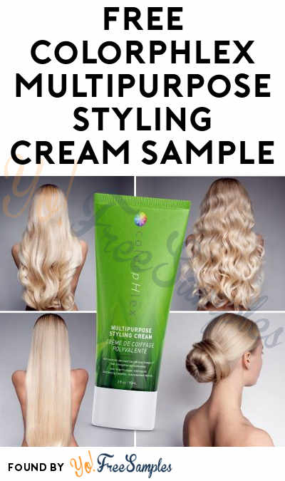 BACK! FREE ColorpHlex Multipurpose Styling Cream Sample