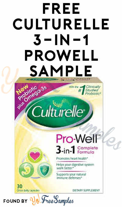 FREE Culturelle Pro-Well 3-in-1 Complete