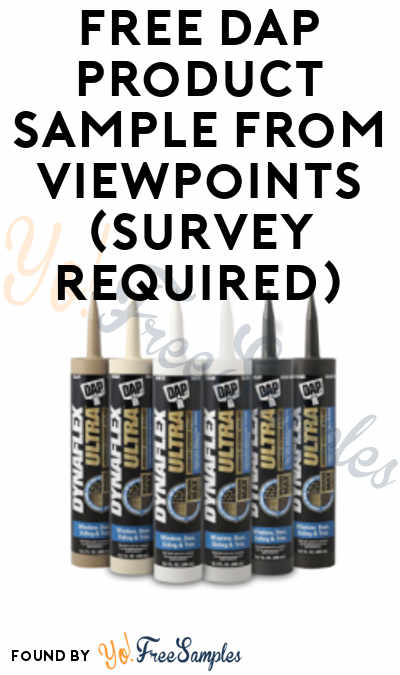 FREE DAP Product Sample From ViewPoints (Survey Required)