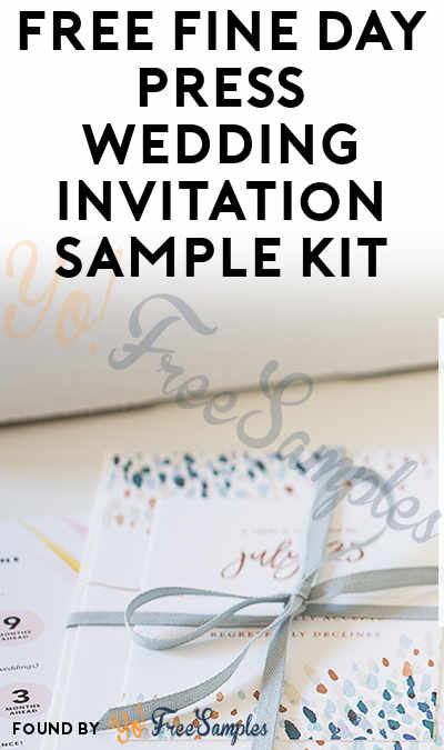 FREE Fine Day Press Wedding Invitation Sample Kit