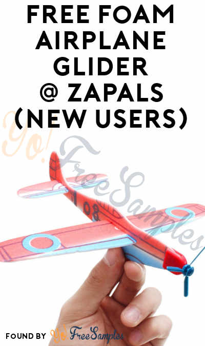 FREE Foam Airplane Glider From Zapals (New Accounts Only + Email Confirmation Required)