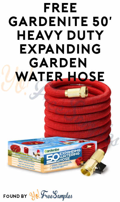 Still Working! FREE Gardenite 50′ Heavy Duty Expanding Garden Water Hose (Limited Codes) [Verified Received By Mail]