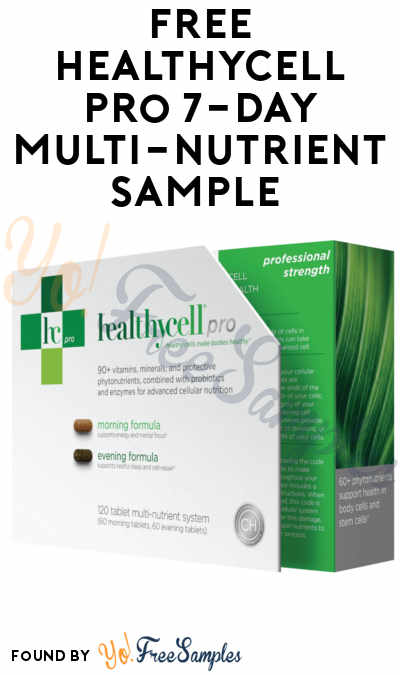 FREE Healthycell Pro 7-Day Multi-Nutrient Sample