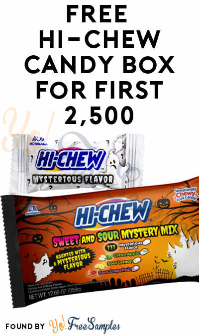 FREE Hi-Chew Candy Box For First 2,500