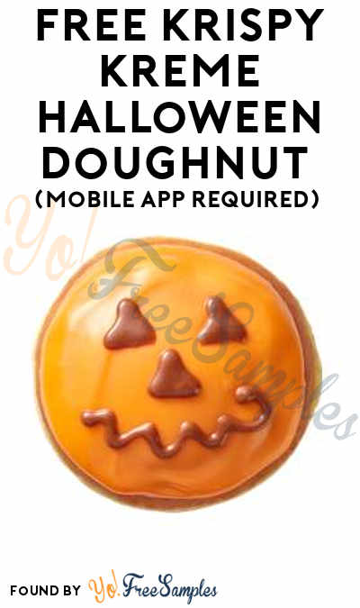 TODAY ONLY: FREE Krispy Kreme Halloween Doughnut On 10/11 (Mobile App Required)