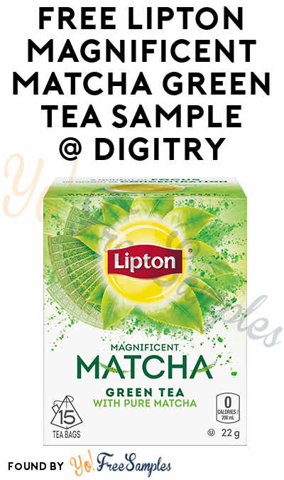FREE Lipton Magnificent Matcha Green Tea Sample To Review At Digitry (Survey Required)