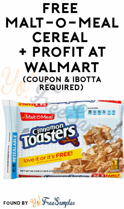 FREE Malt-o-Meal Cereal + Profit At Walmart (Coupon & Ibotta Required)