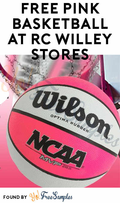 FREE Pink Basketball At RC Willey Stores