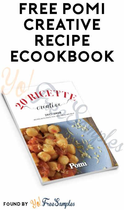 FREE Pomi Creative Ricettario Recipe eCookbook