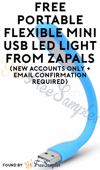 FREE Portable Flexible Mini USB LED Light From Zapals (New Accounts Only + Email Confirmation Required)
