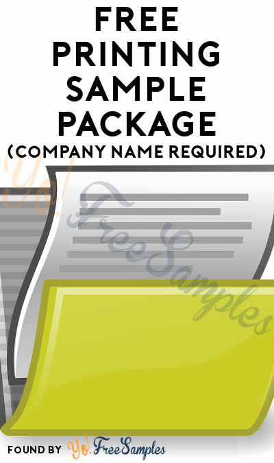 FREE Printing Sample Package (Company Name Required)
