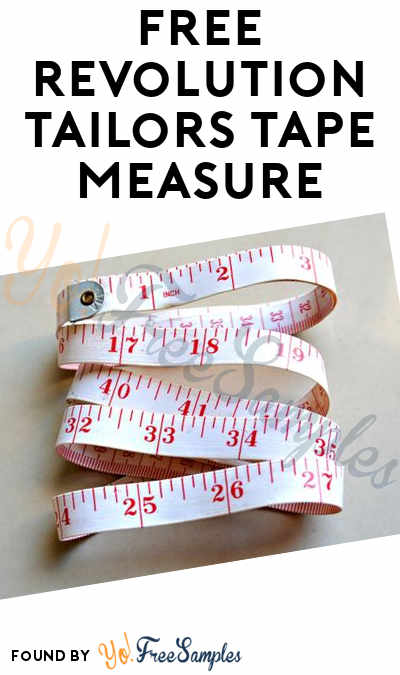 FREE Revolution Tailors Tape Measure