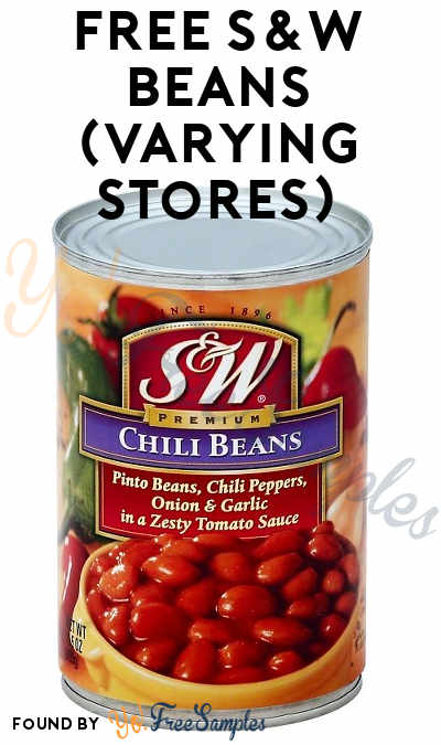 TODAY ONLY: FREE S&W Beans At Farm Fresh, Hornbachers, Shop 'N Save, Shoppers & Cub Stores