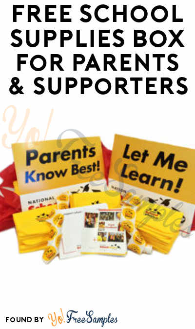 FREE School Supplies Box For Parents & Supporters
