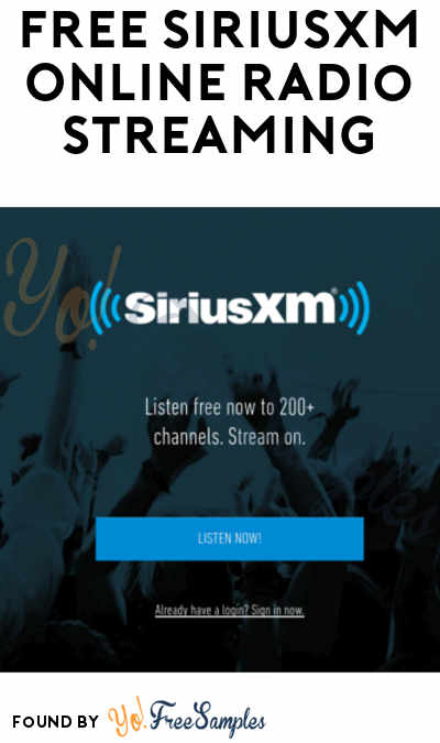 FREE SiriusXM Car + Online Radio Streaming From May 14th – 29th