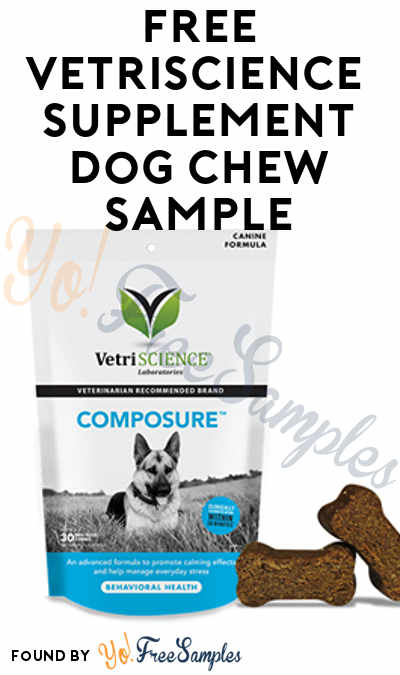 Might Be Back Again: FREE VetriScience Dog Supplement Chew Sample (Facebook Required) [Verified Received By Mail]