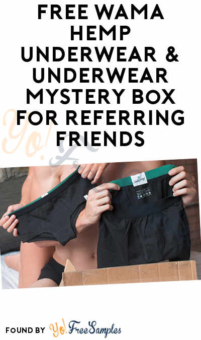 FREE WAMA Hemp Underwear & Underwear Mystery Box For Referring Friends