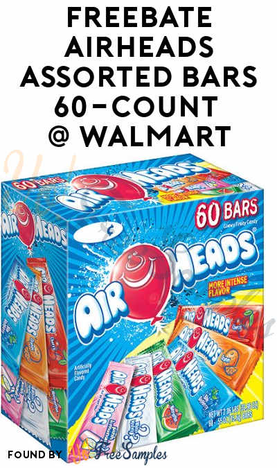 FREEBATE Airheads Assorted Bars 60-Count At Walmart After In-Store Pick Up & Cashback (New TopCashBack Members Only)