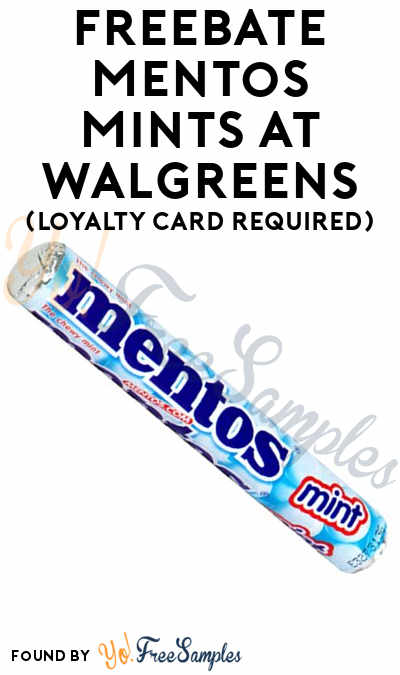 FREEBATE Mentos Mints At Walgreens (Loyalty Card Required)