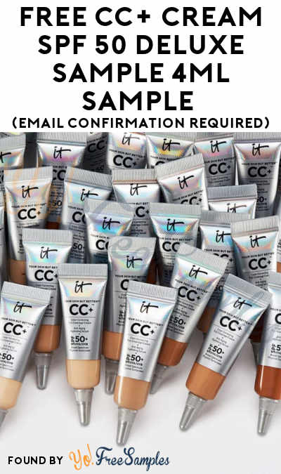First 5,000: FREE CC+ Cream SPF 50 Deluxe Sample 4mL Sample (Email Confirmation Required)