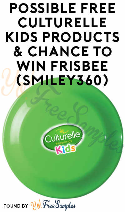 Possible FREE Culturelle Kids Products & Culturelle Branded Frisbee For First 1,000 To Share Welcome Mission (Smiley360)