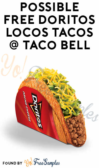 Possible FREE Doritos Locos Tacos On 11/1 & 11/7 At Taco Bell From 2PM-6PM