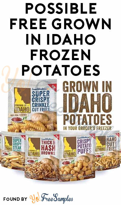 Possible FREE Grown In Idaho Frozen Potatoes From BzzAgent