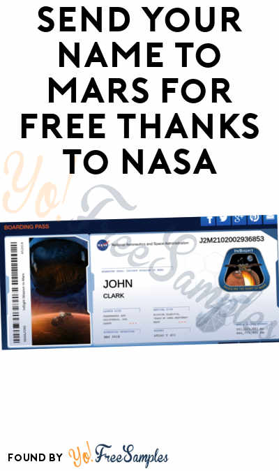 Send Your Name To Mars For FREE Thanks To NASA