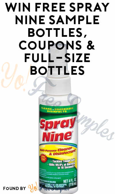 Lots Of Sample Bottle Winners: Win FREE Spray Nine Sample Bottles, Coupons & Full-Size Bottles