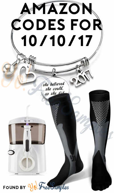 DEALS ALERT: Compression Socks, Water Flosser, Wire Bangle & More For Amazon 10/10/17