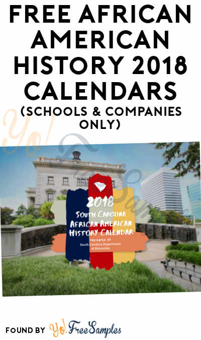 FREE African American History 2018 Calendars (Schools & Companies Only)