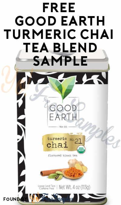 FREE Good Earth Turmeric Chai Tea Blend Sample
