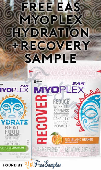 FREE EAS Myoplex Hydration & Recovery Sample (Short Survey Required)